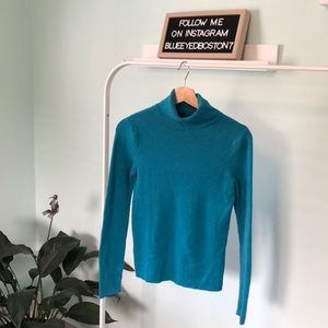 Old Navy Turquoise Turtle Neck Long Sleeve Sweater